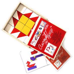 """Деревянные кубики Никитина  """"Сложи узор """" состоят из 16 кубиков, каждая из шести граней которых окрашена в один из 4..."""