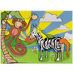 Обезьяна и зебра (DE-028)