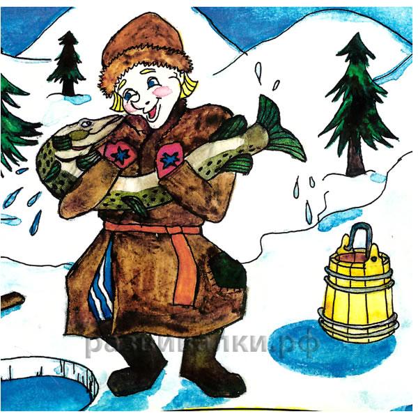 раскраски русские народные сказки